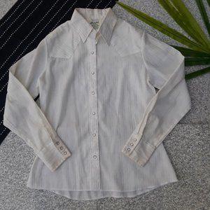 Wrangler| Vintage Western Long Sleeve Snap Top